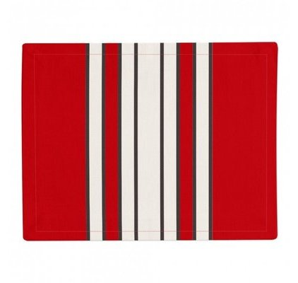 Set de table rouge et blanc
