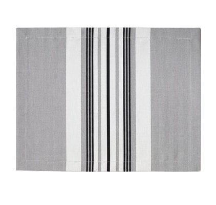 Set de table gris blanc noir