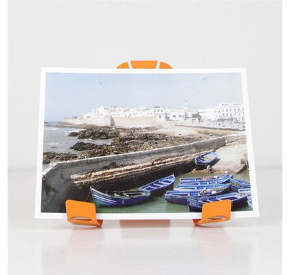 Porte photo design orange