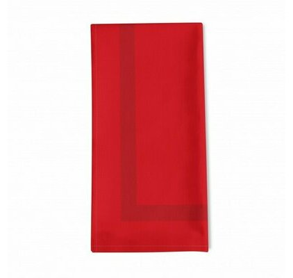 Serviette de table unie rouge