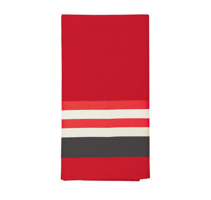 Serviette de table rouge Ainhoa Piment
