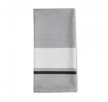 Serviette de table blanc rayé