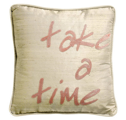 "Coussin message ""Take a time"""