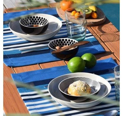 Set de table basque bleu Atlantique