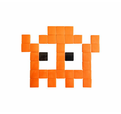 Mosaïque Mini Invader verre outdoor orange